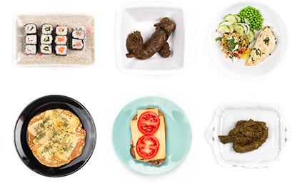 Na sushi komt poep, en ook na een cracker met kaas en tomaat.