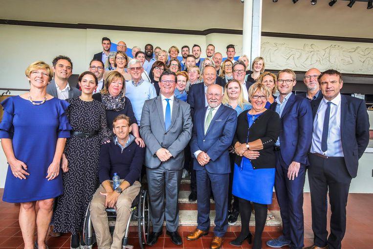De Open Vld-ploeg waarmee Bart Tommelein in oktober naar de kiezer trekt.