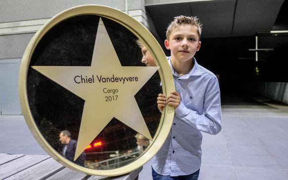 Chiel Vandevyvere (11) krijgt een ster in Kinepolis.