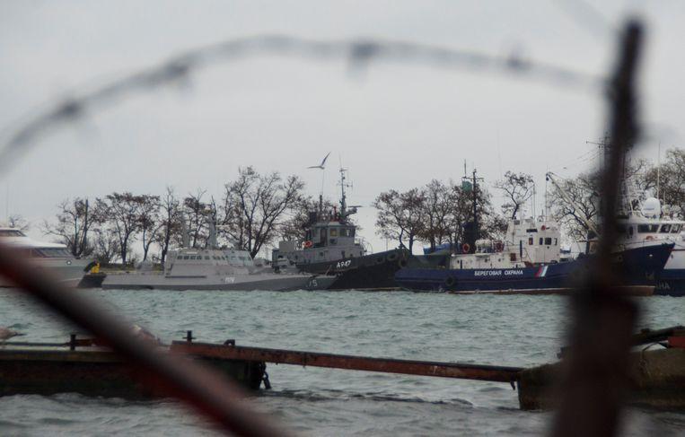 Zondag werden drie Oekraïense schepen in beslag genomen door Rusland.