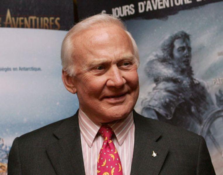 Ex-astronaut Edwin 'Buzz' Aldrin Jr., gefotografeerd in maart 2006. (AFP) Beeld