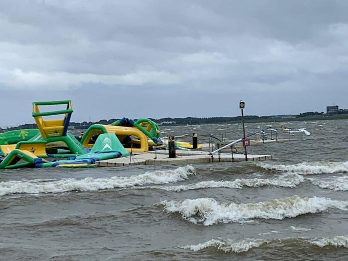 Het park werd ook in juni getroffen door een storm