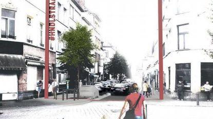 Handelstraat krijgt rode toegangspoorten