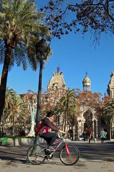Altijd fietsweer in Barcelona