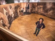 Houten panorama toont een altijd veranderend Den Haag: 'Ik ga altijd op zoek naar hijskranen'