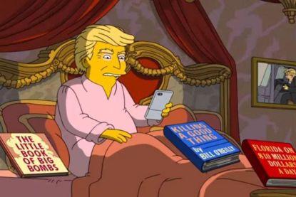 The Simpsons vatten Trumps eerste 100 dagen samen