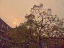 Ook boven Delft gloeit de zon als een vuurbal