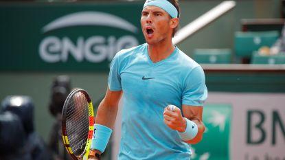 Nadal zet scheve situatie recht op weg naar elfde titel
