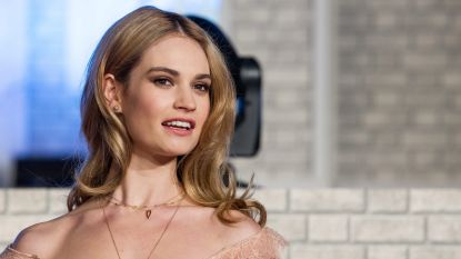 Speculaties over 'verlovingsring' Lily James