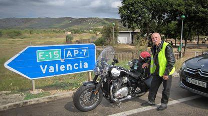Armand (81) met nieuwe motor naar Gibraltar