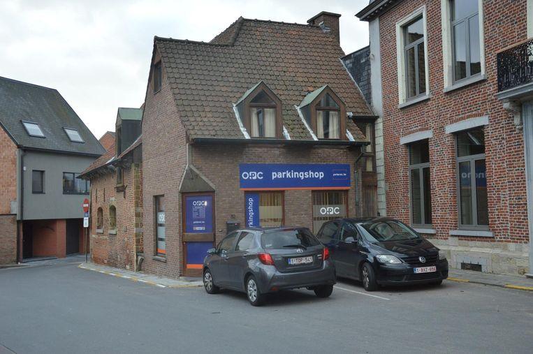 De nieuwe locatie van de parkingshop op het Kerkplein.
