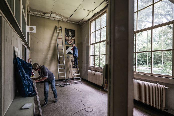 De oudbouw van de voormalige gevangenis De Kruisberg wordt ingericht als galerie door Het Web. Foto: Jan Ruland van den Brink