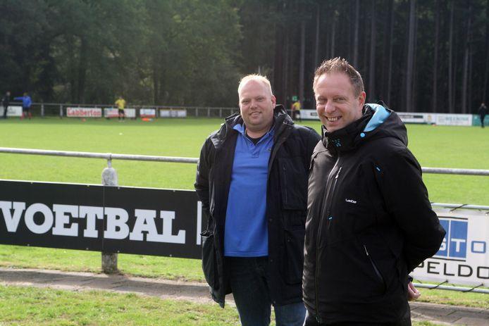 Maico van den Berg en William van Luttikhuizen van SV Orderbos.