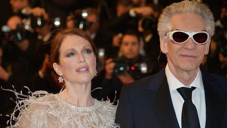 Julianne Moore kreeg de prijs voor beste actrice voor haar rol als actrice op haar retour in David Cronenbergs Hollywoodsatire 'Maps to the stars'. Beeld AFP