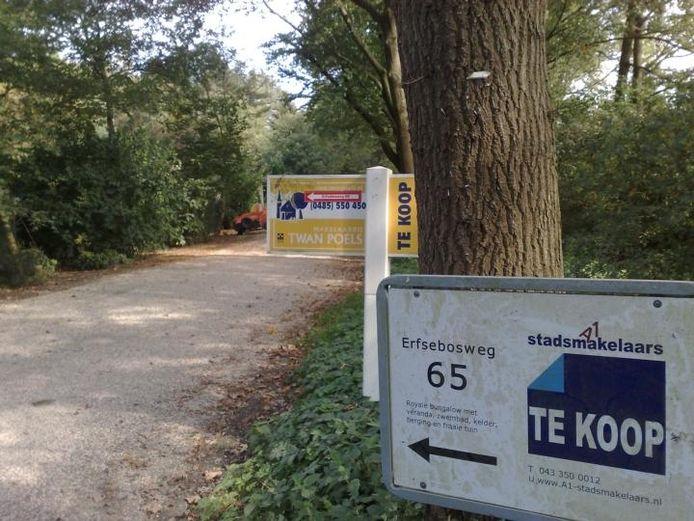 De Erfsebosweg op park Diekendaal in Heijen.