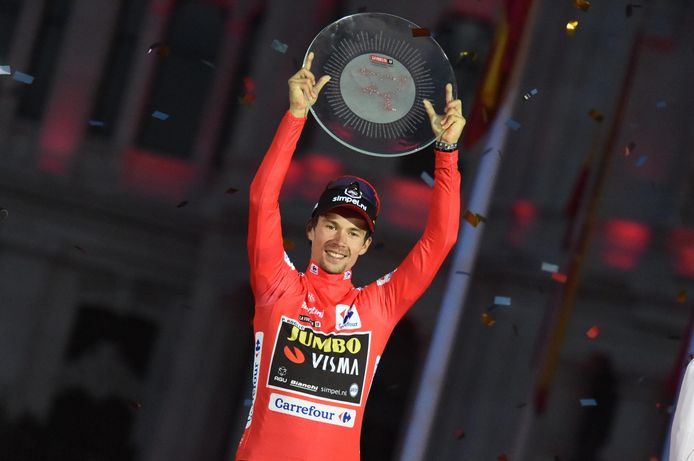 Primoz Roglic won vorige maand de Vuelta.