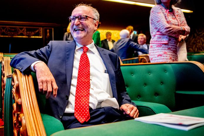 Paul Cliteur van Forum voor Democratie na de installatie van de nieuwe Eerste Kamer.