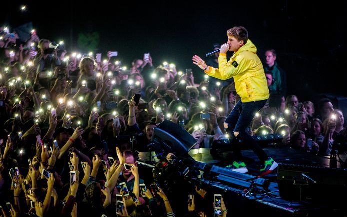 De Nederlandse rapper, zanger, presentator en acteur Lil' Kleine (Jorik Scholten) treedt op in Afas Live.