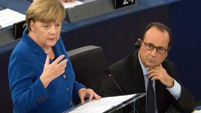 Merkel en Hollande roepen op tot Europese eendracht