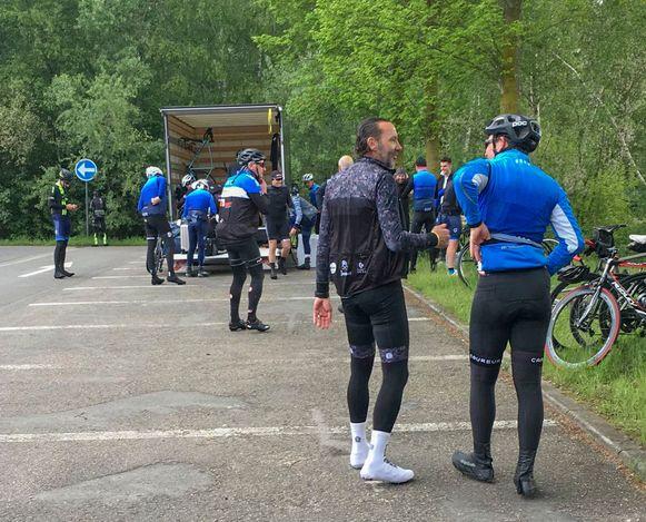 Van het stadion in Genk naar Brugge met de fiets. Na 105 km zat de spirit er nog in.