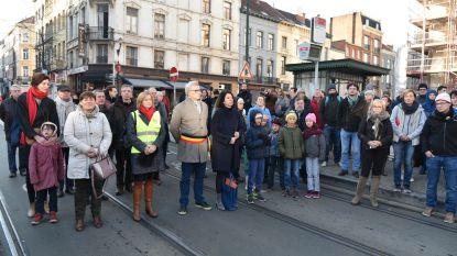 Verkeer in Schaarbeek versteende even om verkeersslachtoffers te herdenken