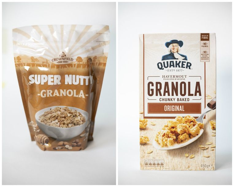 Crownfield Super Nutty Granola en Quaker Granola Chunky Baked Original
