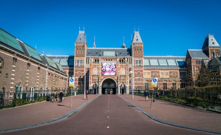 Voor het Rijksmuseum is het rustig. Beeld ANP