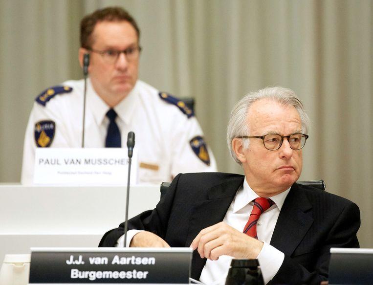 De Haagse burgemeester Jozias van Aartsen tijdens de raadsvergadering. Beeld ANP