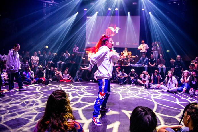 Urban dance battle tijdens de Nieuwjaarsduik van Culturele Zondagen 2019.