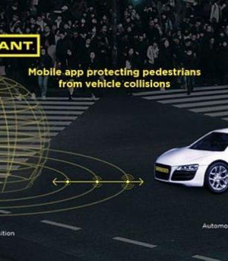 Gratis app moet auto's waarschuwen voor naderende voetgangers