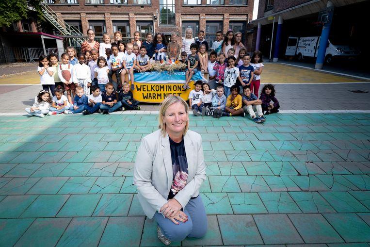 Caroline Verfaillie is de nieuwe directeur van basisschool 't Pleintje.