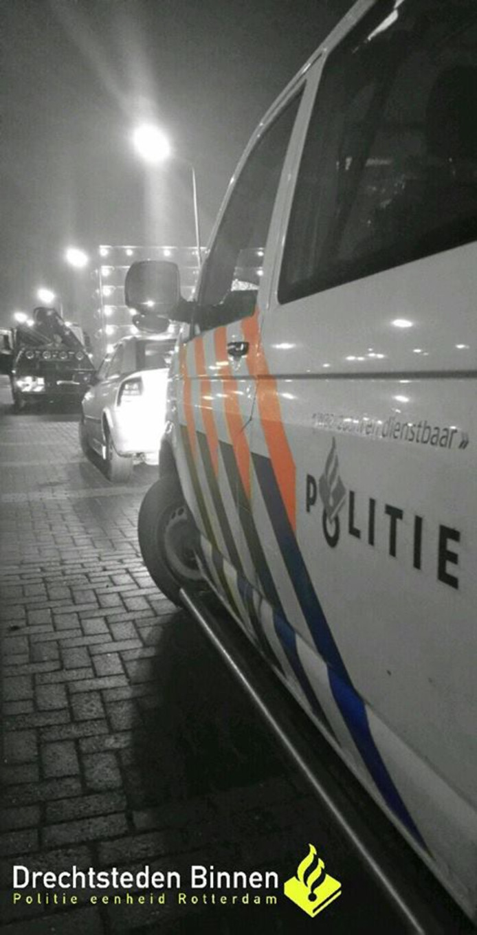 Politiecontrole in Dordrecht.