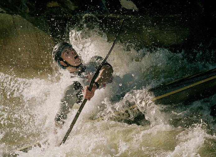 Michael van den Boogaard uit Helmond was in 2000 een van de deelnemers aan het NK kanoslalom in De Efteling.