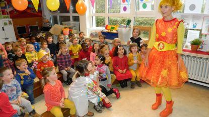 Kaatje Tralalaatje viert haar tiende verjaardag in tweede kleuterklas De Wegel