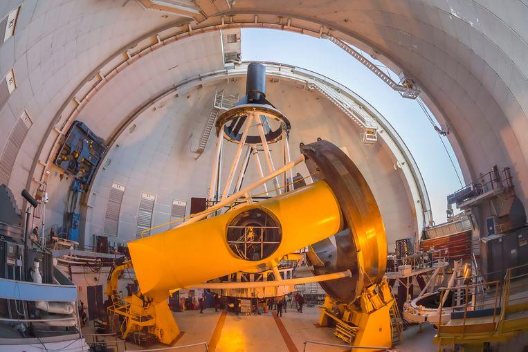 De Hawaïaanse telescoop bovenop Mauna Kea waarvan foto's verdachte objecten rond Jupiter bevatten.  Beeld Imageselect