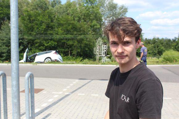 Leerling-bestuurder Cédric Smeers.