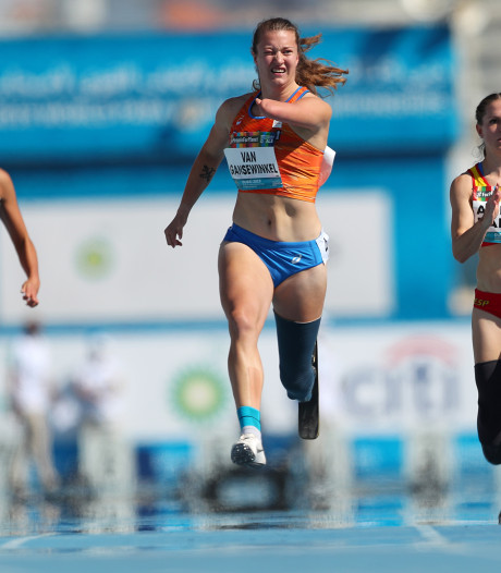 Hilvarenbeekse Marlene van Gansewinkel snelt naar zilver op WK para-atletiek