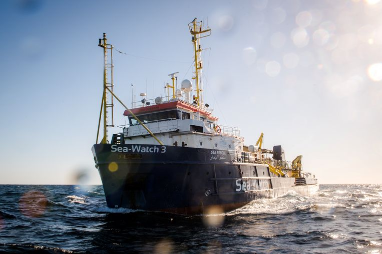 Archiefbeeld van het onder Nederlandse vlag varende schip Sea-Watch 3.