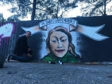 Beverwijkse graffiti-hommage aan Anne Faber alweer overgespoten