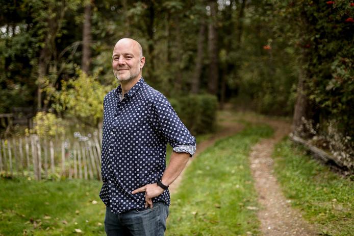 Pepijn Baneke in de bossen van Mook.