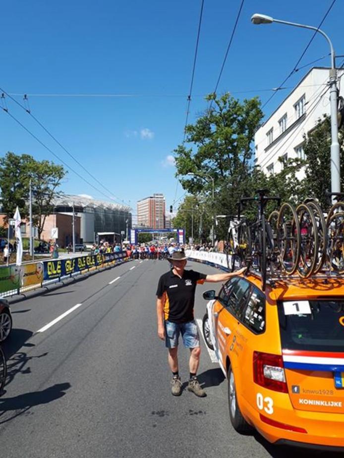 Frans de Brouwer uit Hulst gaat naar het WK wielrennen.