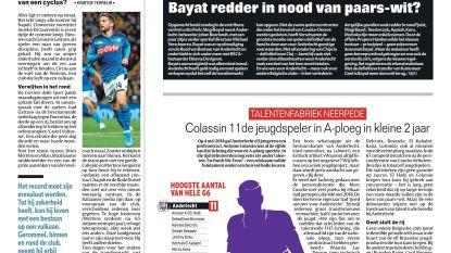 Colassin 11de jeugdspeler in A-ploeg in kleine 2 jaar