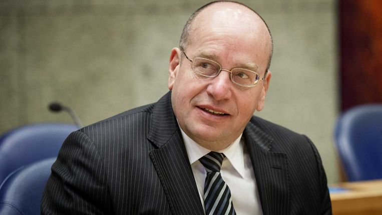 Staatssecretaris Fred Teeven van Veiligheid en Justitie tijdens een Tweede Kamerdebat. Beeld anp