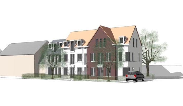 Bouwplan 9 appartementen aan de Eindhovenseweg 197 in Valkenswaard.
