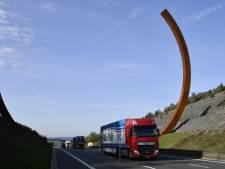"""L'oeuvre """"Arc majeur"""" officiellement inaugurée sur l'E411"""