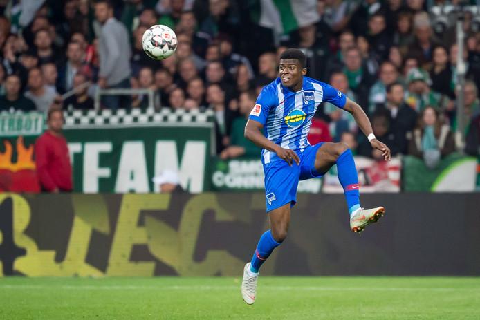 Javairô Dilrosun in actie voor Hertha BSC. ,,Echt de juiste club voor me.''