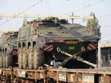 Legertanks via Oldenzaal onderweg naar grote NAVO-oefening