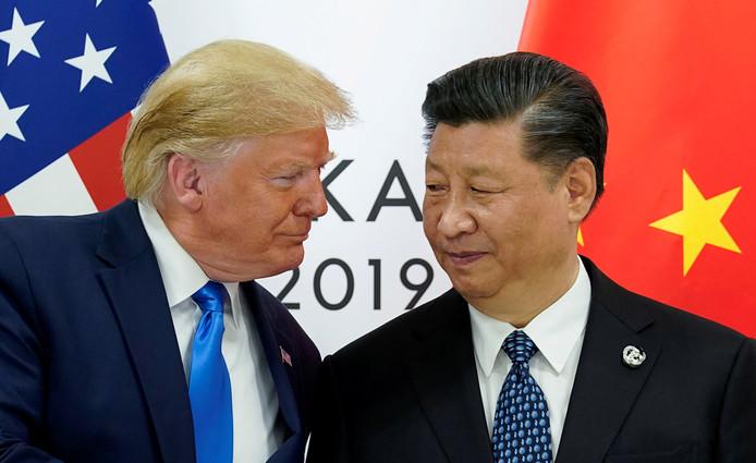 Les présidents américain Donald Trump et chinois Xi Jinping.