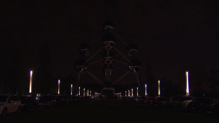 Earth Hour aan het Atomium