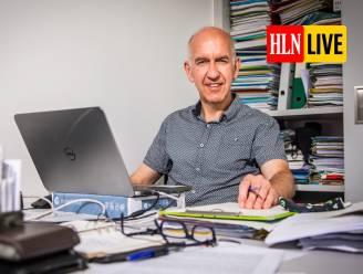 """LIVE. Biostatisticus Geert Molenberghs: """"Horeca kan vroeger dan in buurlanden heropenen als we opoffering van kerst en Nieuwjaar kunnen verteren"""""""